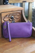 Crossbody Wristlet in Grape
