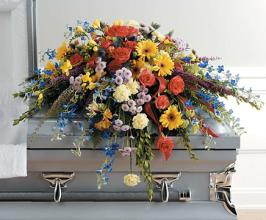 Colorful Casket Spray