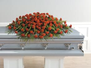 Red Carnation Casket Spray