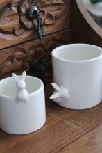 Ceramic Bunny Container Duo