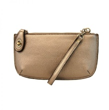 Crossbody Wristlet in Light Bronze