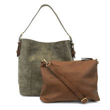 Luxe Hobo Bag in Olive Shimmer