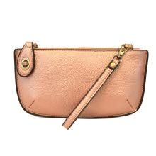 Metallic Rose Gold Wristlet