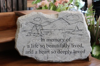 A Life Beautifully Lived Memorial Stone
