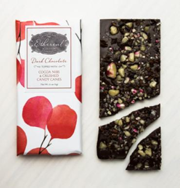 Organic Dark Chocolate + Candy Cane Bar