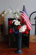 Silk Cemetary Bouquet Patriotic